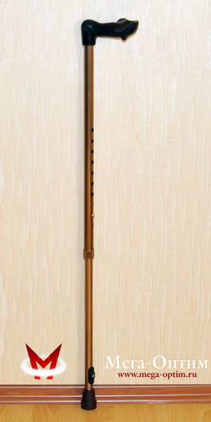 Телескопическая трость с анатомической ручкой (правая/левая, мужская/женская)