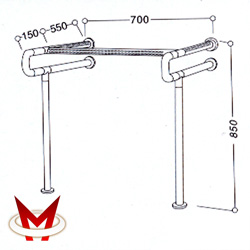 Поручень для санитарно-гигиенических комнат 8851