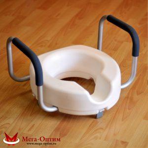 Насадка на унитаз для инвалидов с мягкими поручнями CF 07-5508-1A