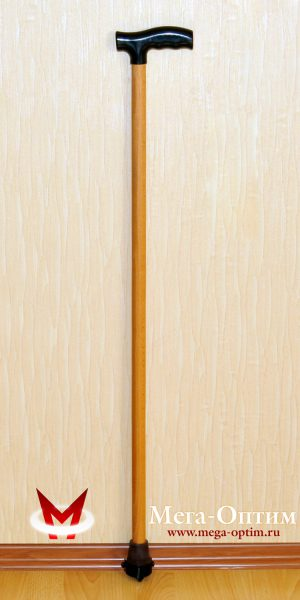 Деревянная трость с пластмассовой ручкой ИПР-А