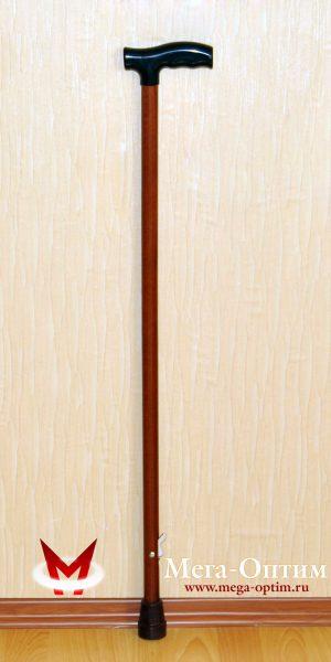 Деревянная трость с пластмассовой ручкой ИПР-Ш