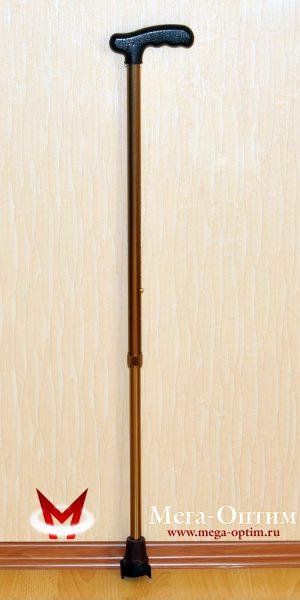 """Трость телескопическая алюминиевая с пластмассовой ручкой с УПС """"Антилёд"""""""